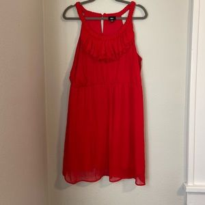 Perfect Red Ruffle Dress